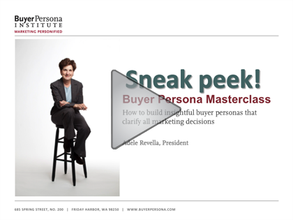 Buyer Persona Masterclass | Buyer Persona Institute